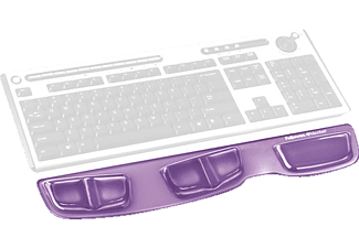 FELLOWES Health-V™ Crystal Keyboard Palm Support Purple - (9183601)