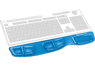 FELLOWES Health-V™ Crystal Keyboard Palm Support Blue - (9183101)