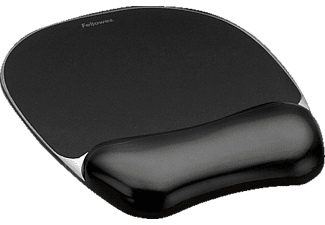 FELLOWES Crystal™ Gel Mouse Pad/Wrist Rest Black - (9112101)