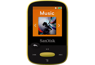 SANDISK SanDisk Clip Sport, MP3 Player, 8 GB, Akkulaufzeit: 25 Std., Gelb