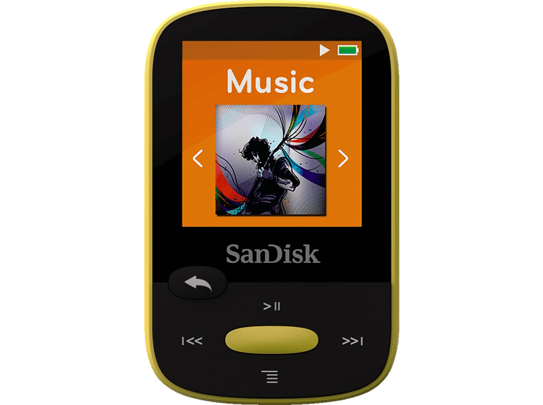 SAN DISK Sansa Clip Sport 8GB Yellow - (SDMX24-008G-G46Y) εικόνα   ήχος   offline φορητός ήχος ipod  mp3  mp4 τηλεόραση   ψυχαγωγία ήχος i