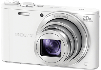 SONY DSC-WX 350 W.CE3 Kompaktkamera, 18.2 Megapixel, 20x opt. Zoom, Full HD, Exmor R CMOS Sensor, Near Field Communication, WLAN, 25-500 mm Brennweite, Autofokus, Weiß