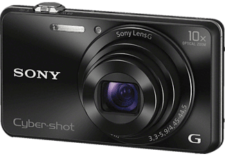SONY DSC-WX 220 B.CE3 Kompaktkamera Schwarz, 18.2 Megapixel, 10x opt. Zoom, Clear-Photo-LC, WLAN