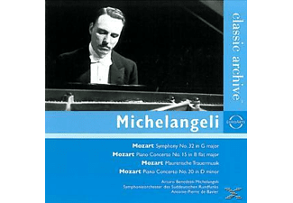 Benedetti Michelangeli & De Bavier - Symphony No. 32 In G Major - Piano Concerto No. 15 In B Flat - (CD)