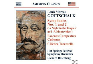Louis Moreau Gottschalk, Rosenberg/Hot Springs Festival SO - Sinfonien 1+2/+ - (CD)