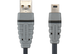BANDRIDGE BCL4402 USB A Male - Mini 5-pin Male 2 m USB Kablosu