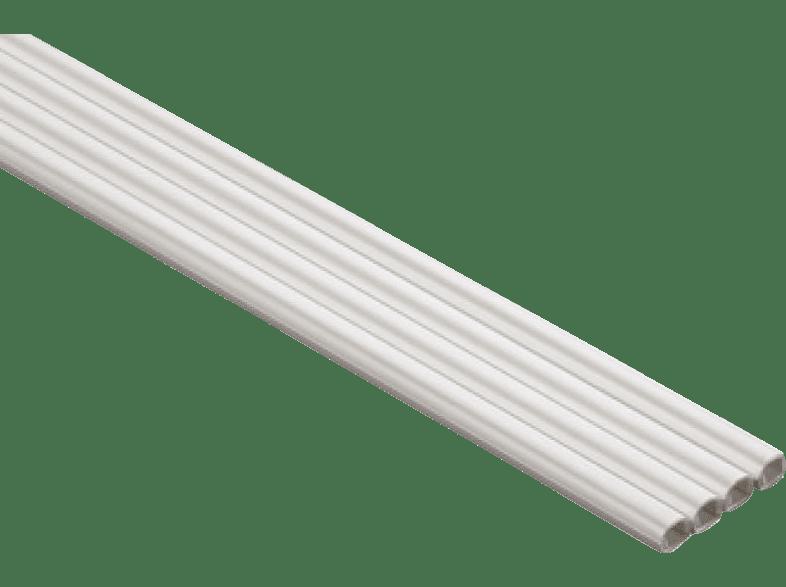 HAMA PVC Cable Duct, semicircular, 100/0.6/0.7 cm, White - (00020570) τηλεόραση   ψυχαγωγία μην ξεχάσεις τακτοποίηση καλωδίων εικόνα   ήχος   offline