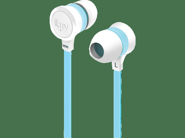 ILUV Neon Sound iEP336 White/ Blue τηλεφωνία   πλοήγηση   offline αξεσουάρ κινητής τηλεόραση   ψυχαγωγία ακουστικά