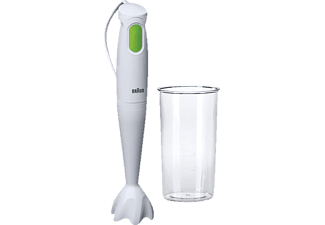 BRAUN MQ 100 TributeCollection Soup, Stabmixer, 450 Watt, Weiß/Grün