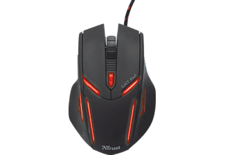 TRUST GXT 152, Optical mouse, Schwarz/Rot