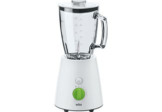 BRAUN JB 3060 TributeCollection, Standmixer, 800 Watt, Weiß/Grün/Glas