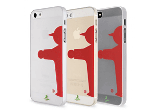ARTWIZZ Rubber Clip Light Backcover Apple iPhone 5, iPhone 5s Polycarbonat Transparent/Rot