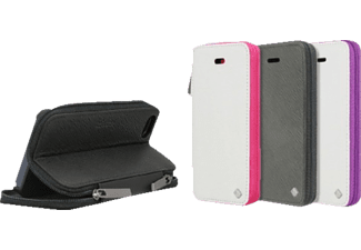 3612 Zip Case Bookcover HTC One mini Polycarbonat/Echtleder Zero Pink