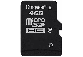 KINGSTON microSDHC 4GB Class 10 με SD αντάπτορα - (SDC10/4GB)