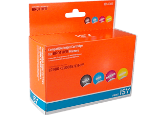 ISY 1235988 IBI 4003 Multipack 4 Brother LC980+1100 (BK/C/M/Y)