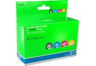 ISY 1236111 ICI 4002 Multipack 4 Canon BCI-3+6 (BK/C/M/Y)