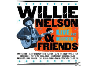 Willie Nelson, Willie / Friends Nelson - LIVE & KICKIN [CD]