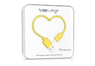 HAPPY PLUGS Lightning till USB-kabel - Gul