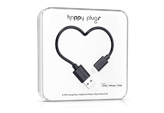 HAPPY PLUGS Lightning till USB-kabel - Svart