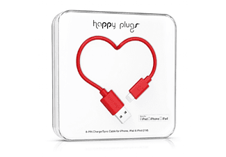 HAPPY PLUGS Lightning till USB-kabel - Röd