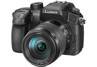 PANASONIC Lumix DMC-GH4 HEG-K Systemkamera 16.05 Megapixel mit Objektiv 14-140 mm f/3.5-5.6, 7.5 cm Display   Touchscreen, WLAN
