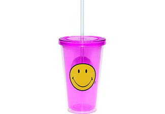 ZAK! 6187-0851 Smiley Trinkbecher mit Trinkhalm Smiley