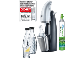 sodastream penguin starter set inkl zylinder und 2 glaskaraffen 1016112494 mediamarkt. Black Bedroom Furniture Sets. Home Design Ideas