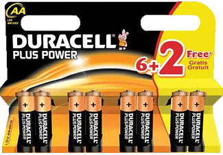 DURACELL Plus Power AA batterij 6+2 pak