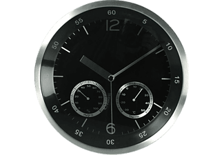 out of the blue aluminium wanduhr mit hygrometer thermometer uhren mediamarkt. Black Bedroom Furniture Sets. Home Design Ideas