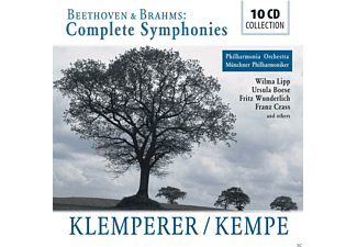 VARIOUS, Münchner Philharmoniker, The Philharmonia Orchestra - Beethoven / Brahms: Complete Sinfonies [CD]