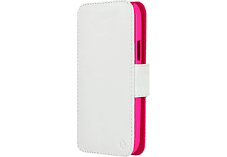 0060 Touch Case Bookcover HTC One mini 2 Polycarbonat/Echtleder Crystal Pink