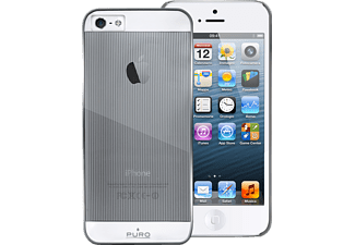 PURO PU-005888 Mirror iPhone 5, iPhone 5s Handyhülle, Stripes Silber