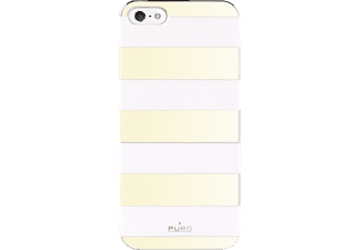 PU-006243 Stripe Backcover Apple iPhone 5, iPhone 5s Polycarbonat Gold