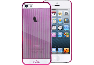 PURO PU-005887 Back Case Mirror, Backcover, iPhone 5/5S, Stripes Rosa