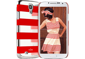 PURO PU-007306 Back Case Stripe, Backcover, Galaxy S4, Rot
