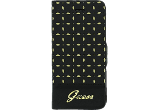 GU323182 Bookcover Apple iPhone 5, iPhone 5s Kunstleder Schwarz/Gold