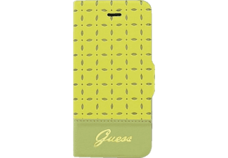 GUESS GU325711, Apple, Bookcover, iPhone 5, iPhone 5s, Mikrofaser, Gelb/Gold