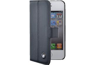 BMW BM314098 Leather Folio Case, Klapp-Etui, iPhone 4/4S, Blau