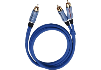 OEHLBACH 22702 BOOM Y-Adapter Kabel blau 2m, Y-Cinch-Kabel, 2000 mm, Blau