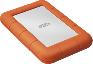 LACIE Rugged Mini, 2 TB HDD, 2.5 Zoll, extern, Silber/Orange