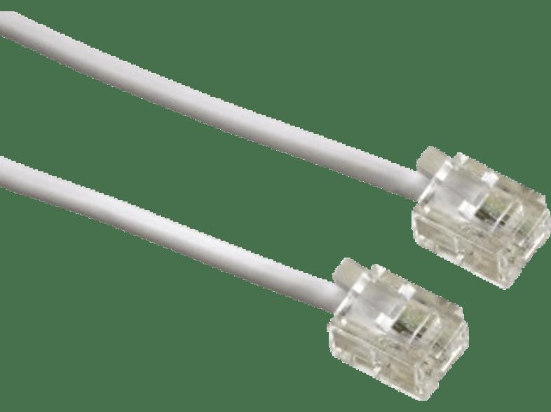 HAMA Modular Cable, 6p4c plug - 6p4c plug, 10 m, white - (00044491) βιβλία για το γραφείο  αξεσουάρ σταθερής τηλεφωνίας   deactivated smartphones
