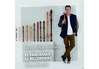 Simon Borutzki - 12 Fantasias - 12 Recorders - (CD)