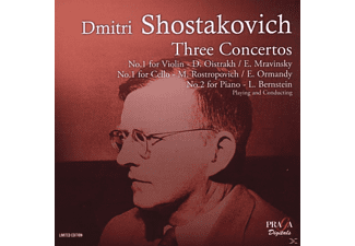 David Oistrakh, Mstislav Rostropovich, Leonard Bernstein - Three Concertos - No. 1 For Violin / No. 1 For Cello / No. 2 For Piano - (SACD Hybrid)