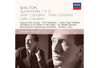 Academy of St. Martin in the Fields, Bournemouth Symphony Orchestra, Chung Kyung-wha - Walton: Symphonies 1&2 / Violin Concerto / Viola Concerto / Cello Concerto - (CD)