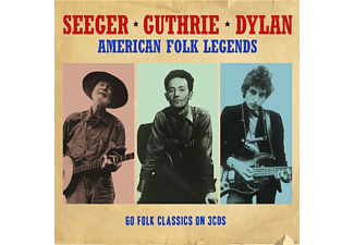 Pete Seeger, Woody Guthrie, Bob Dylan - American Folk Legends - 60 Folk Classics - (CD)