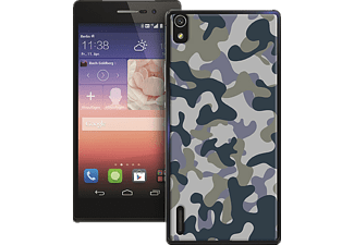 PU-110740 Back Case Army Backcover Huawei Ascend P7 Polycarbonat Army