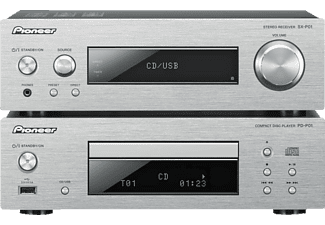 PIONEER XC-P01-S Compact Component HiFi-System (iPod Steuerung, CD, USB, Silber)