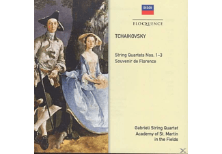 Gabrieli String Quartet, Academy of St. Martin in the Fields - Tchaikovsky: Streichquartette No's.1-3 / Souvenir De Florence - (CD)