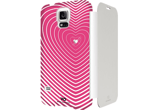 WHITE DIAMONDS Heart Bookcover Samsung Galaxy S5 Kunstleder Pink