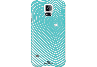 WHITE DIAMONDS Heart, Samsung, Bookcover, Galaxy S5, Kunstleder, Mint